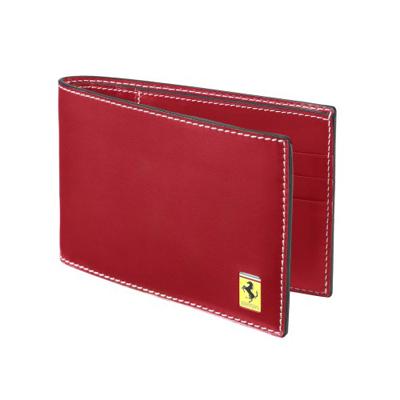 フェラーリストア限定 トレードマーク2つ折りウォレット(財布) レッド