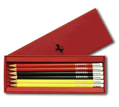 フェラーリストア限定 フェラーリ 6本鉛筆セット