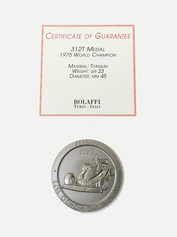 BOLAFFI社製 1975年 フェラーリ 312T ワールドチャンピオン記念 チタンメダル