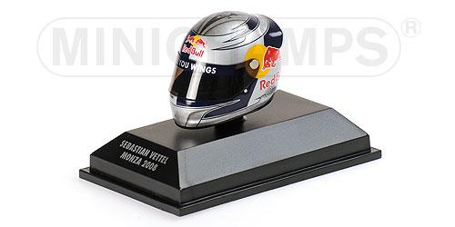 ミニチャンプス 1/8 アライ ヘルメット S.ベッテル モンツァ (イタリアGP) 2008 限定1000pcs