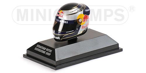 ミニチャンプス 1/8 アライ ヘルメット S.ベッテル シルバーストーン (イギリスGP) 2009 限定1000pcs