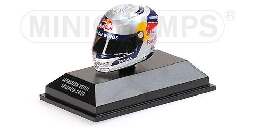 ミニチャンプス 1/8 アライ ヘルメット S.ベッテル バレンシア (スペインGP) 2010 限定1000pcs