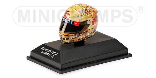 ミニチャンプス 1/8 アライ ヘルメット S.ベッテル アメリカGP オースチン 2012
