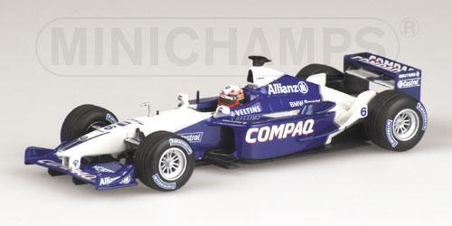 ミニチャンプス 1/43 ウィリアムズ BMW FW23 J.P.モントーヤ マレーシアGP 2001年3月18日
