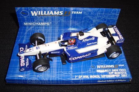 1/43    ウィリアムズ BMW FW23 J.P.モントーヤ 1stGP Win MONZA 2001 4896台限定