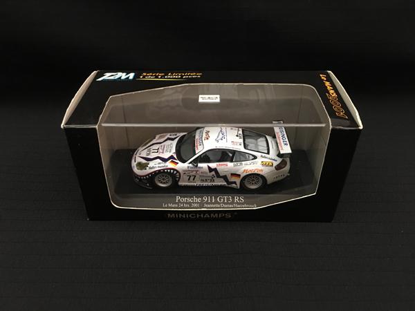 ミニチャンプス 1/43 ポルシェ 911 GT3 RS 2001年ルマン24時間  1000台限定品