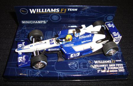 1/43    ウィリアムズ BMW FW24 R.シューマッハ 2nd half of sezson 2002