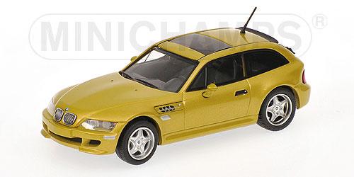 ミニチャンプス1/43 BMW Mクーペ 2001 イエローメタリック
