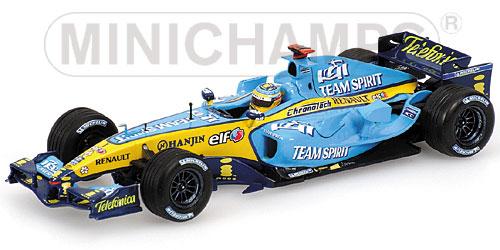 ミニチャンプス 1/43 ルノー F1 R24 F.アロンソ 2004
