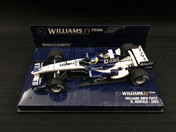 ミニチャンプス 1/43 ウィリアムズ BMW FW27 N.ハイドフェルド 2005