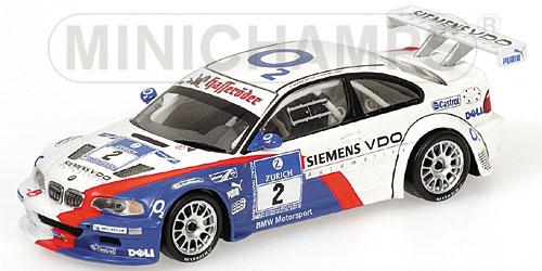 ミニチャンプス 1/43 BMW M3 GTR ADAC24 2005