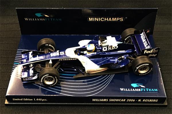 【ミニカーフェア対象】ミニチャンプス 1/43 ウィリアムズ 2006ショーカー N.ロズベルグ