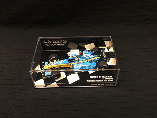 ミニチャンプス 1/43 ルノー F1 R26 F.アロンソ 2006 イギリスGP限定モデル