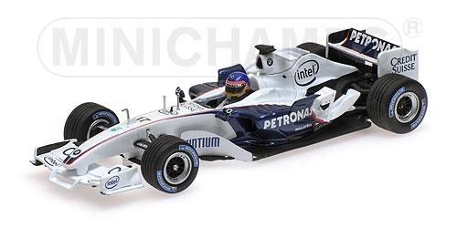 ミニチャンプス 1/43ザウバー BMW C24B ジャック・ビルヌーブ F1バレンシアテスト 2006年2月
