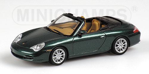 ミニチャンプス1/43 ポルシェ 911 カブリオレ 2001 グリーンメタリック