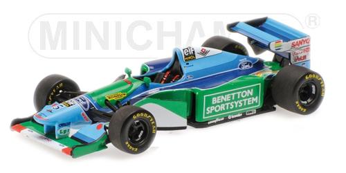 ミニチャンプス 1/43 ベネトン フォード B194 M.シューマッハ 1994 ワールドチャンピオン (フィギュア無し)