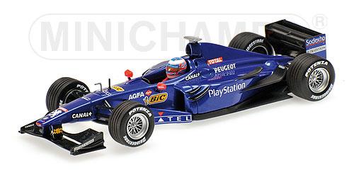 ミニチャンプス 1/43 プロスト プジョー AP02 J.バトン F1 初テスト バルセロナ 1999年12月
