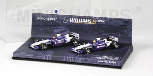ミニチャンプス 1/43 ウィリアムズ BMW FW24 1-2フィニッシュ 2台セット マレーシアGP R.シューマッハ&J.P.モントーヤ