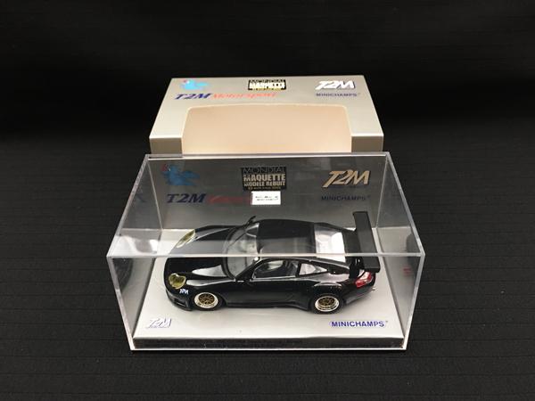 T2M別注 ミニチャンプス 1/43 ポルシェ 911 GT3-RS ブラック パリサロン 999台限定品