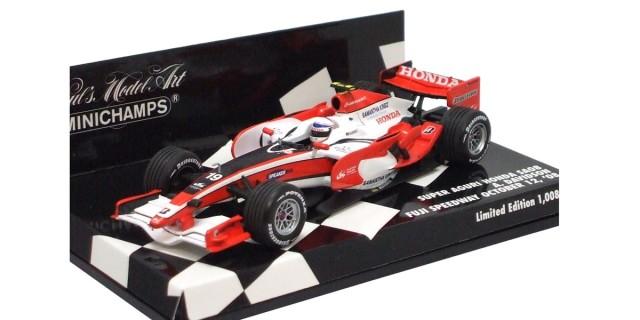 ミニチャンプス 1/43 スーパーアグリSA08 A.デビットソン 2008年富士スピードウエイ限定 日本GP日付入り