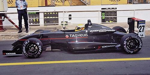 ミニチャンプス 1/43 ダラーラ 無限 F302 L.ハミルトン 2003年マカオGP