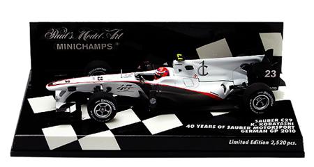 1/43 ザウバーC29 小林可夢偉 2010ドイツGP 40YEAR
