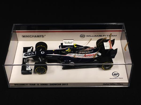 【SALE】ブルーノ・セナ直筆サイン入 ミニチャンプス 1/43 ウィリアムズ2012ショーカー