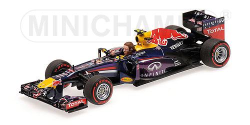 ミニチャンプス  1/43 レッドブル  RB9  M.ウェバー F1参戦ラストレース ブラジルGP 2013(並行輸入品)