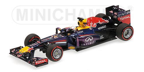 ミニチャンプス  1/43  レッドブル レーシング ルノー RB9 S.ベッテル ウィナー バーレーンGP 2013