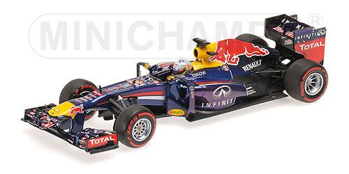 ミニチャンプス  1/43 インフィニティ レッドブル レーシング ルノー RB9 S .ベッテル ブラジルGP 2013 ウィナー
