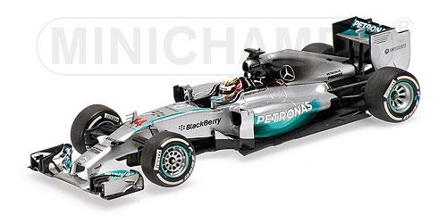 ミニチャンプス 1/43 メルセデス W05 L.ハミルトン 中国GP ウィナー 2014
