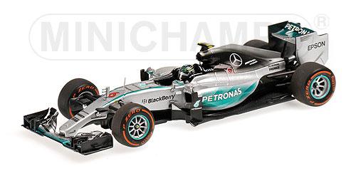 ミニチャンプス 1/43 メルセデス W06  N.ロズベルグ 2015年日本GP