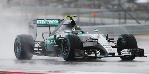 【ミニカーフェア対象】ミニチャンプス 1/43 メルセデス W06 HYBRID N .ロズベルグ USA GP 2015