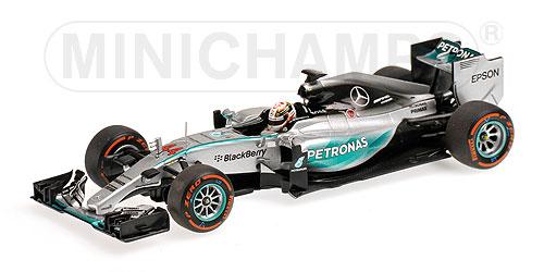 ミニチャンプス 1/43 メルセデス W06 L.ハミルトン 2015年日本GP 優勝