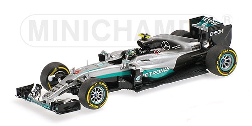 【ミニカーフェア対象】ミニチャンプス 1/43 メルセデス F1 W07 N.ロズベルグ 2016年バーレーンGP優勝