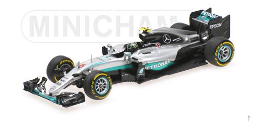 ミニチャンプス 1/43 メルセデス F1 W07 N.ロズベルグ 2016年ワールドチャンピオン