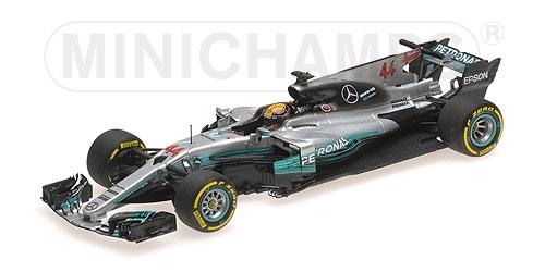 ミニチャンプス 1/43 メルセデス W08 L.ハミルトン 2017年スペインGP優勝