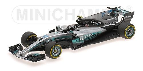 ミニチャンプス 1/43 メルセデス W08 V.ボッタス 2017年スペインGP