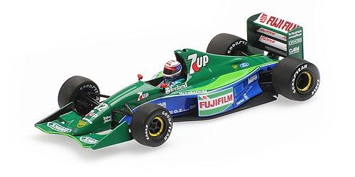 ミニチャンプス 1/43 ジョーダン フォード 191 B.ガショー 1991年イギリスGP6位入賞