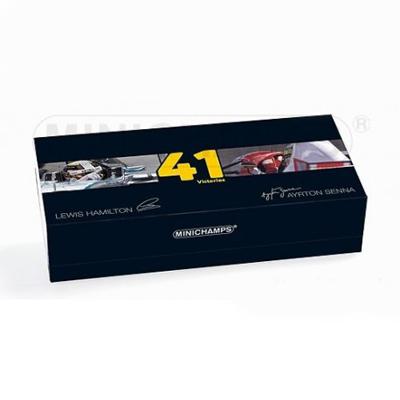 ミニチャンプス 1/43 L.ハミルトン 2015年日本GP(メルセデスW06)+A.セナ 1993年オーストラリアGP 1993(マクラーレンMP4/8) 優勝41回達成 2台セット