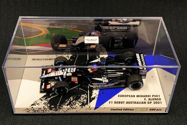 【並行輸入品】海外別注 ミニチャンプス 1/43 ミナルディ PS01 F.アロンソ 2001年オーストラリアGPF1デビュー No.21