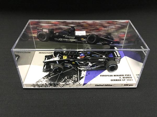 ミニチャンプス 海外別注 1/43 ミナルディPS01 F.アロンソ 2001年ドイツGP No.21