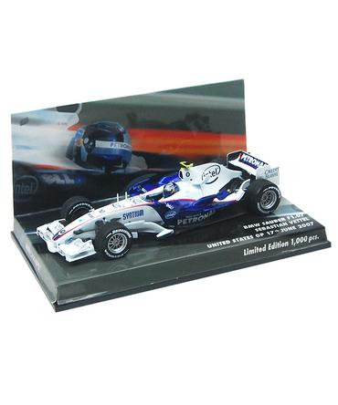 MBA別注 ミニチャンプス 1/43 BMWザウバー F1.07 S.ベッテル 2007年アメリカGP8位