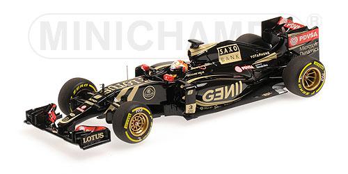 ミニチャンプス 1/43 ロータス E23 R.グロージャン NO.8 2015年本戦(レジン製)