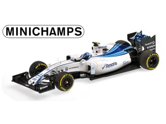 ミニチャンプス 1/43 ウィリアムズ FW37 V.ボッタス 2015年アブダビGP No.77