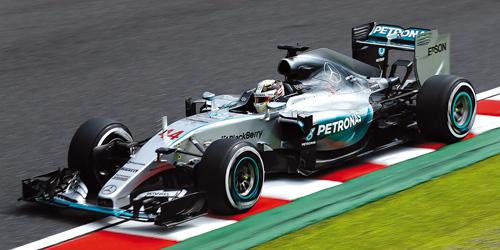 ミニチャンプス  1/43 メルセデス W06 ハイブリッド L .ハミルトン 日本GP 2015 ウィナー レジン製限定品