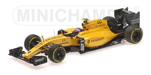 ミニチャンプス 1/43 ルノー F1 RS16 J.パーマー 2016