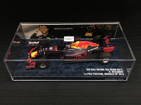 ミニチャンプス 1/43 レッドブル RB12 D.リカルド 2016年モナコGPポールポジション