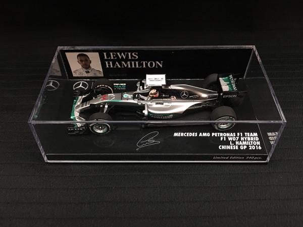 ミニチャンプス 1/43 メルセデス W07 L.ハミルトン 2016年中国GP