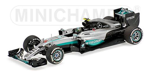 【ミニカーフェア対象】【再入荷】ミニチャンプス 1/43 メルセデス F1 W07 N.ロズベルグ 2016年日本GP優勝